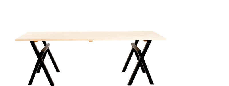 Lambda trestle table ash